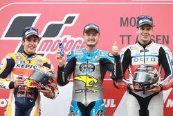 Podio: il vincitore della gara Jack Miller, Marc VDS Racing Honda, il secondo classificato Marc Marq