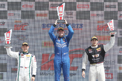 GT podium: winner Ryan Eversley, RealTime Racing, second place Adderly Fong, Bentley Team Absolute, third place Michael Cooper, Cadillac Racing