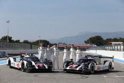 #1 Porsche Team, Porsche 919 Hybrid: Timo Bernhard, Mark Webber, Brendon Hartley, #2 Porsche Team Po