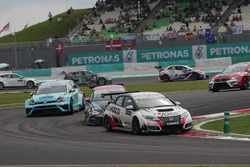 Gianni Morbidelli, Honda Civic TCR, WestCoast Racing e Mato Homola, Seat Leon, B3 Racing Team Hungar
