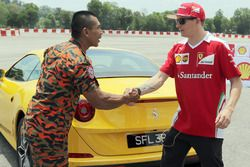 Kimi Raikkonen, Ferrari trains as a Malaysian firefighter