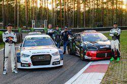 Mattias Ekström, EKS RX Audi S1, Petter Solberg, PSRX Citroën DS3 RX, Johan Kristoffersson, Volkswag