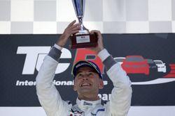 Podium: Race winner Roberto Colciago, Honda Civic TCR, Target Competition