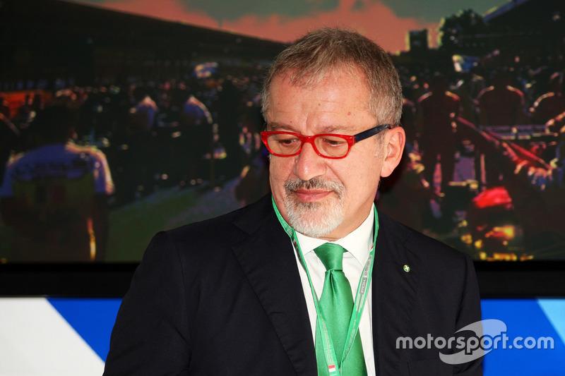 Roberto Maroni, Lombardia Region President at a Monza circuit announcement