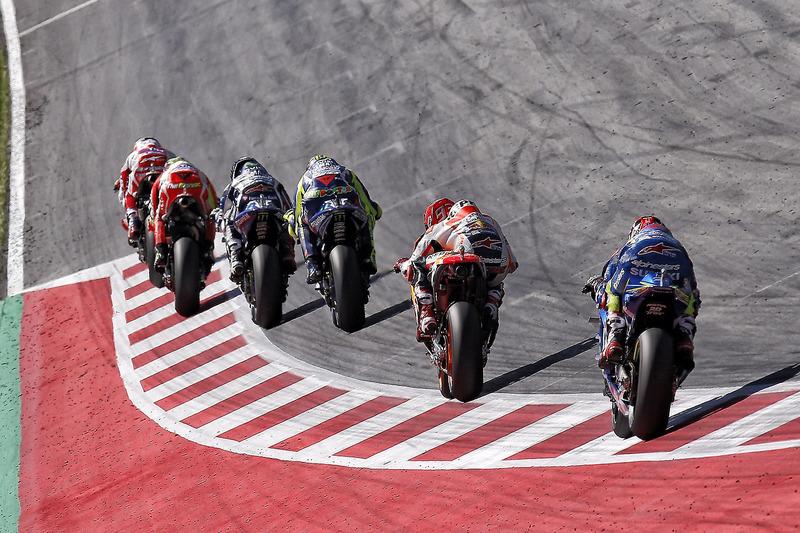 Die Spitzengruppe im Rennen