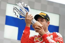 Sebastian Vettel, Ferrari fête sa seconde position sur le podium