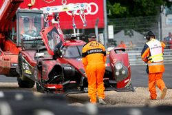 Unfall: #43 RGR Sport by Morand Ligier JSP2 Nissan: Bruno Senna
