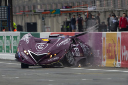#96 Solution F: Philipee Charriol, Roberto Rayneri, Roberto Silva in a crash