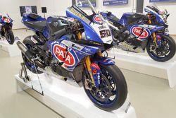 Yamaha bike on display at Yamaha Superbike Temple