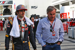 Carlos Sainz Jr., Scuderia Toro Rosso, mit seinem Vater Carlos Sainz
