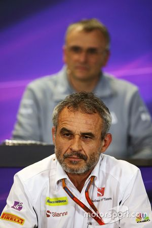 Beat Zehnder, Sauber F1 Team Manager in the press conference