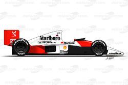 McLaren MP4-5B conducido por Ayrton Senna