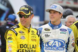 Matt Kenseth, Joe Gibbs Racing, Toyota; Trevor Bayne, Roush Fenway Racing, Ford