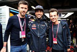 Michael Carric, futbolcu, Daniel Ricciardo, Red Bull Racing, ve Louis Tomlinson, şarkıcı