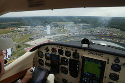 Approaching Charlotte Motor Speedway for the fly-over