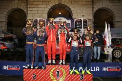 Podio: i vincitori Luca Pedersoli, Anna Tomasi, Citroen C4 WRC, i secondi classificati Corrado Fontana, Nicola Arena, Bluthunder Racing Italy, i terzi classificati Tobia Cavallini, Sauro Farnocchia, Ford Fiesta WRC