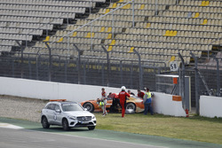 Crash: Jamie Green, Audi Sport Team Rosberg, Audi RS5 DTM
