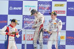 Podium race 3: winner Raul Guzman Marchina, DR Formula, second place Marcos Siebert, Jenzer Motorsport and third place Job Van Uitert, Jenzer Motorsport