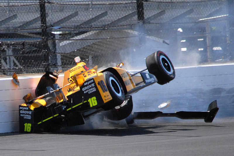 #2: Crash von Spencer Pigot (Rahal-Honda)