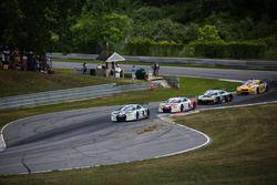 #9 Stevenson Motorsports Audi R8 LMS GT3: Matt Bell, Lawson Aschenbach and #6 Stevenson Motorsports Audi R8 LMS GT3: Andrew Davis, Robin Liddell
