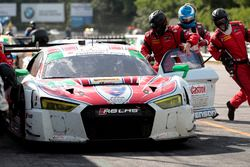 Pit stop #6 Stevenson Motorsports Audi R8 LMS GT3: Andrew Davis, Robin Liddell