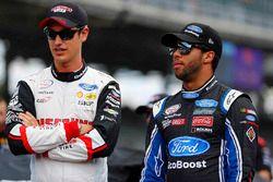 Joey Logano, Team Penske Ford, Darrell Wallace Jr., Roush Fenway Racing Ford