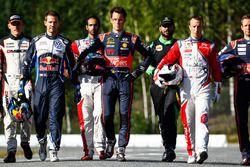 WRC drivers photoshoot