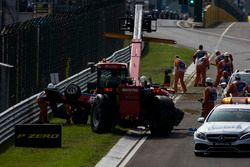 Wagen van Akash Nandy, Jenzer Motorsport na crash