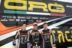 Felice Tiene, Davide Fore en Max Verstappen, CRG