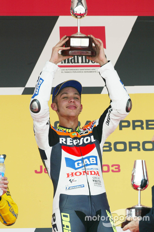 Podium: race winner Valentino Rossi, Repsol Honda Team