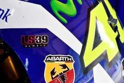 Valentino Rossi, Yamaha Factory Racing showing its Luis Salom remembrance sticker