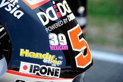Erinnerung an Luis Salom am Motorrad von Johann Zarco, Ajo Motorsport