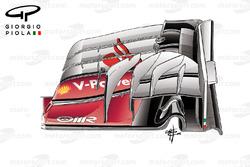 Nouvel aileron avant, Ferrari SF16-H, GP de Malaisie