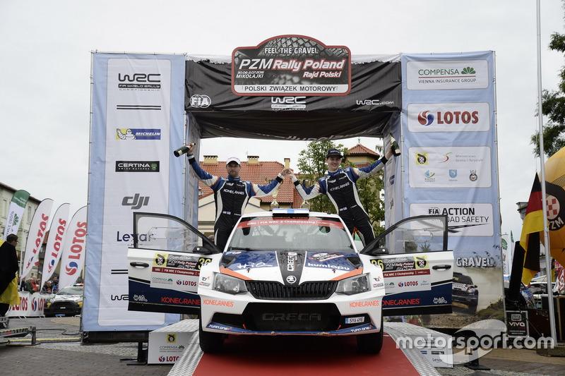 WRC2 ganadores: Teemu Suninen, Mukko Markkula, Skoda Fabia R5
