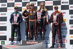 TCA Race 1 podium: Elivan Goulart, Joey Bickers, Matthew Fassnacht