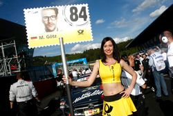 Grid girl of Maximilian Götz (GER) Mercedes-AMG Team HWA, Mercedes-AMG C63 DTM. 21.05.2016, DTM Round 2, Spielberg, Austria, Race 1, Saturday. - www.xpbimages.com, EMail: requests@xpbimages.com - copy of publication required for printed pictures. Every used picture is fee-liable. © Copyright: Trienitz / XPB Images