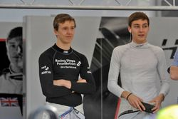 Ben Barnicoat, HitechGP Dallara F312 – Mercedes-Benz; George Russell, HitechGP Dallara F312 – Merced