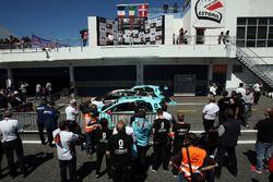 Podium: second place Jean-Karl Vernay, Leopard Racing, Volkswagen Golf GTI TCR; Winner Gianni Morbid
