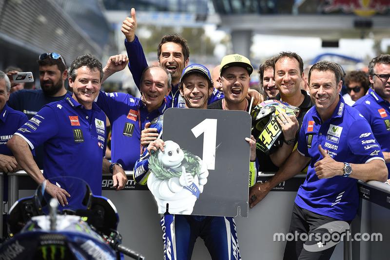 Première pole de l'année pour Rossi