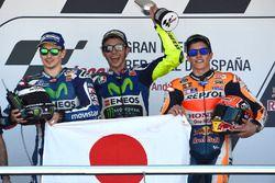 Podium: 1. Valentino Rossi, 2. Jorge Lorenzo, 3. Marc Marquez