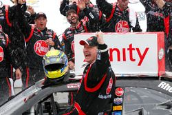 Race winner Michael McDowell, Richard Childress Racing Chevrolet