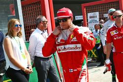 Kimi Raikkonen, Ferrari en la parilla