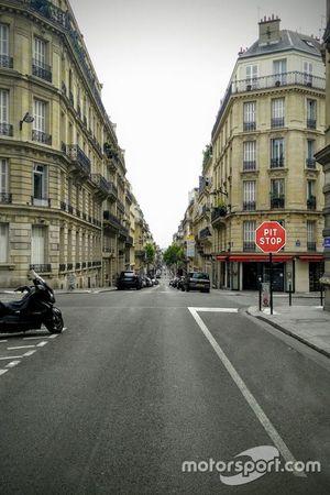 Señal de parada de ePrix en París