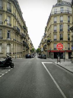 cartello di pit-stop, ePrix di Parigi
