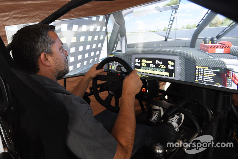 Tony Stewart, Stewart-Haas Racing during an iRacing event at