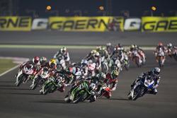 Start action, Jonathan Rea, Kawasaki Racing