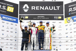 Podium: Race winner #19 Equipe Verschuur Renault RS01: Steijn Schothorst; second place #3 R-ace GP Racing Renault RS01: Kevin Korjus; third place #4 Oregon Team Renault RS01: David Fumanelli