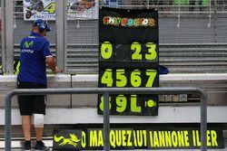 Valentino Rossi, Yamaha Factory Racing pitboard