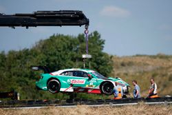 The car of Nico Müller, Audi Sport Team Abt Sportsline after the crash