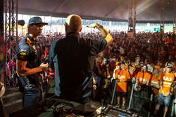 Max Verstappen, Red Bull Racing on stage to meet with his fans on the campsite